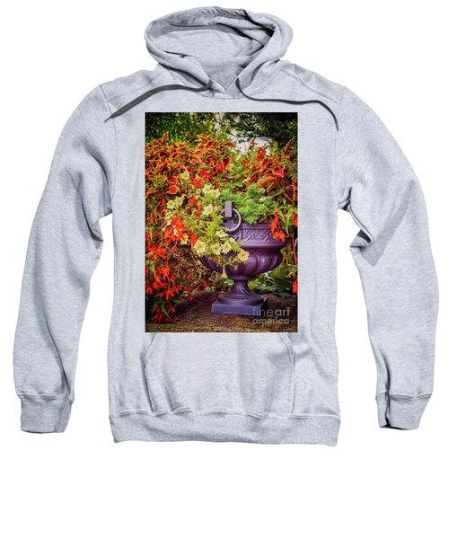 Decorative Flower Vase In Garden Sweatshirt