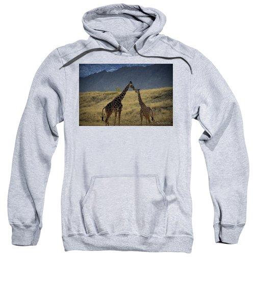 Desert Palm Giraffe 001 Sweatshirt