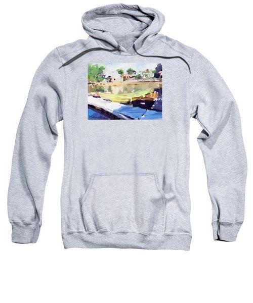 Dories At Beacon Marine Basin Sweatshirt by Melissa Abbott