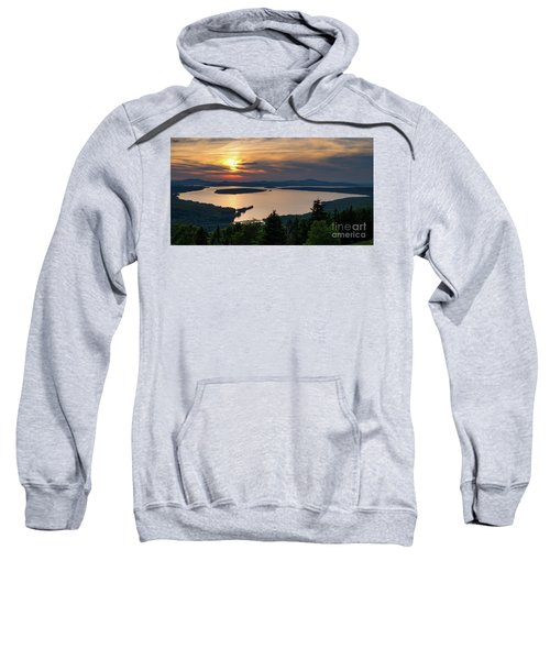 Dusk, Mooselookmeguntic Lake, Rangeley, Maine  -63362-63364 Sweatshirt