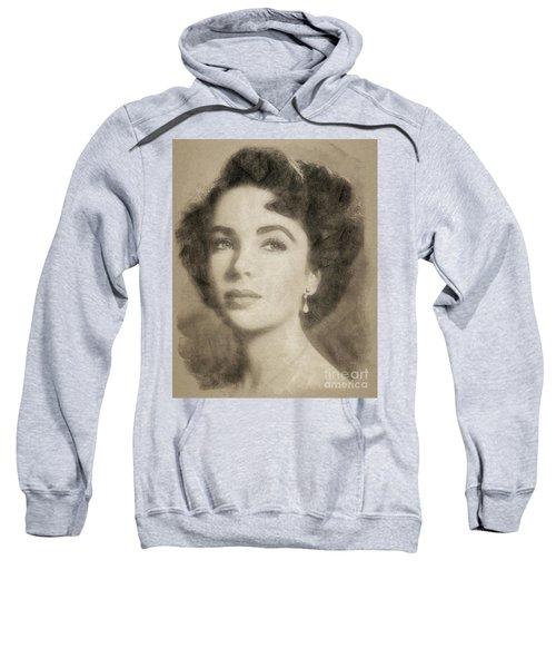 Elizabeth Taylor Hollywood Actress Sweatshirt by John Springfield