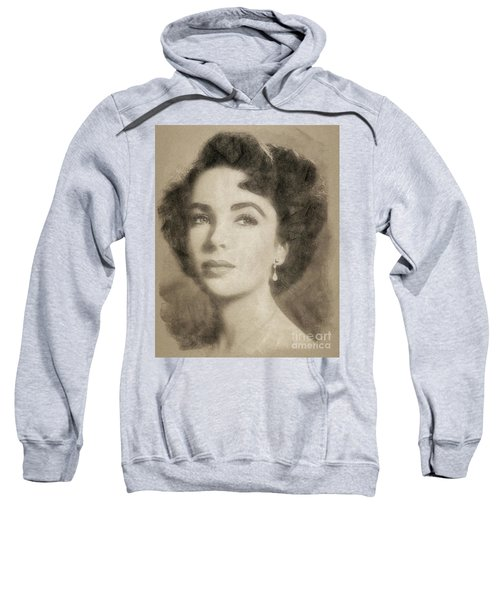 Elizabeth Taylor, Vintage Hollywood Legend By John Springfield Sweatshirt