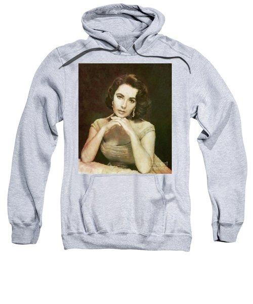 Elizabeth Taylor, Vintage Hollywood Legend By Mary Bassett Sweatshirt by Mary Bassett