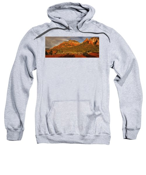 Evening Shadows Pano Txt Sweatshirt