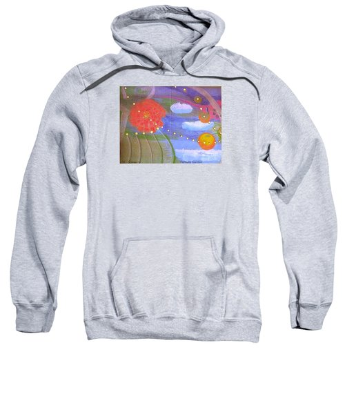 Sweatshirt featuring the drawing Fantasy Garden by Rod Ismay