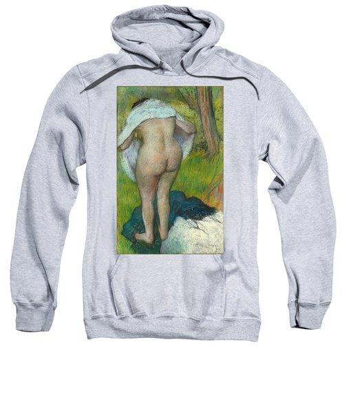Girl Drying Herself Sweatshirt