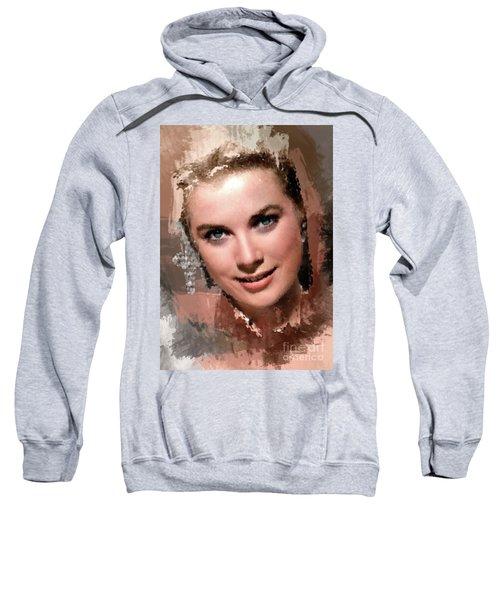 Grace Kelly, Vintage Hollywood Actress Sweatshirt by Mary Bassett