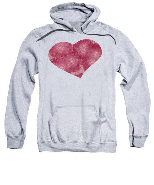 Heart Shape Stone Art Sweatshirt