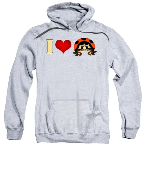 I Love Ladybugs Sweatshirt by Sarah Greenwell