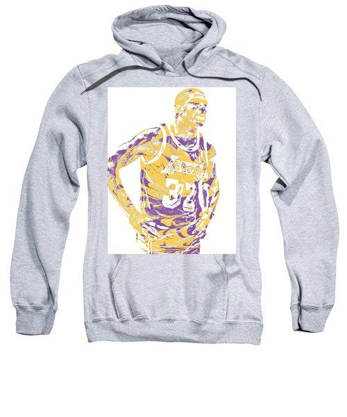 Magic Johnson Los Angeles Lakers Pixel Art 6 Sweatshirt