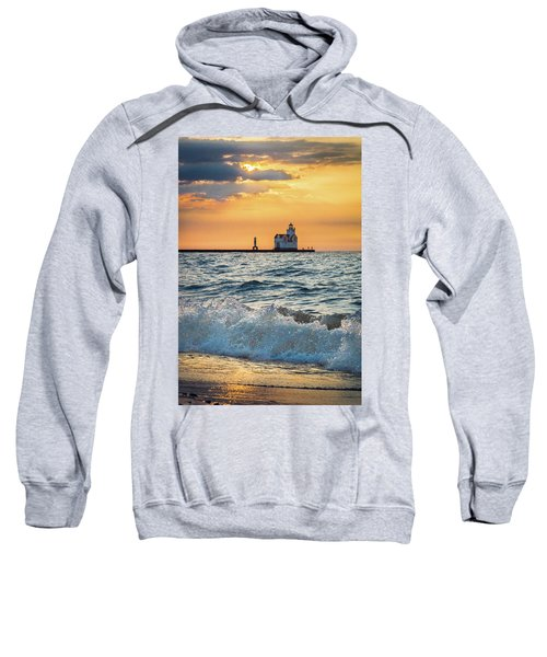 Sweatshirt featuring the photograph Morning Dance On The Beach by Bill Pevlor