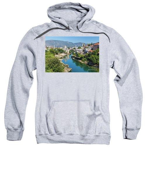 Mostar Skyline At Night Sweatshirt