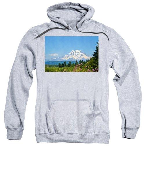 Mount Rainier Watercolor Sweatshirt