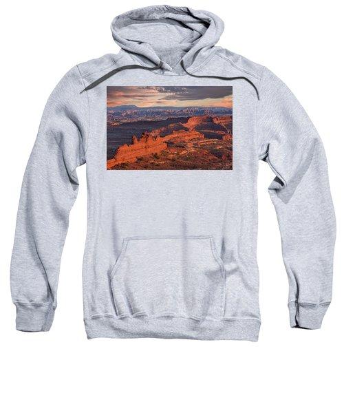 Needles Sunset From White Crack Sweatshirt