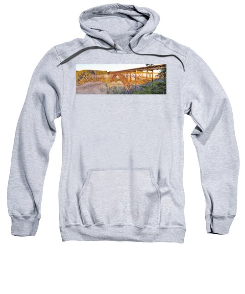 New River Gorge Bridge Morning Fall Panorama Sweatshirt