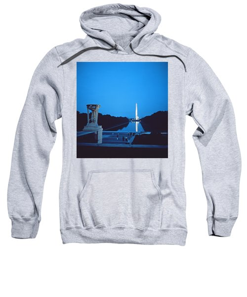 Night View Of The Washington Monument Across The National Mall Sweatshirt