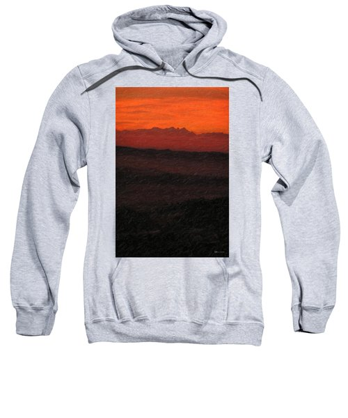 Not Quite Rothko - Blood Red Skies Sweatshirt