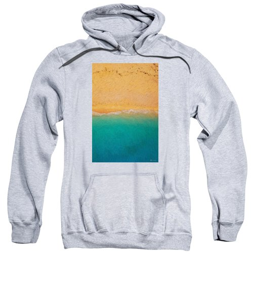 Not Quite Rothko - Surf And Sand Sweatshirt by Serge Averbukh