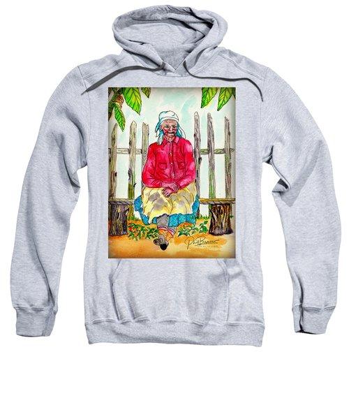 Old Migrant Worker, Resting, Arcadia, Florida 1975 Sweatshirt