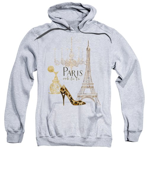 Paris - Ooh La La Fashion Eiffel Tower Chandelier Perfume Bottle Sweatshirt