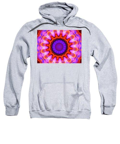 Pink 16-petals Kaleidoscope Sweatshirt