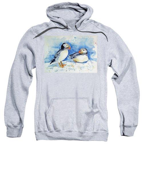 Puffins Sweatshirt by Kovacs Anna Brigitta
