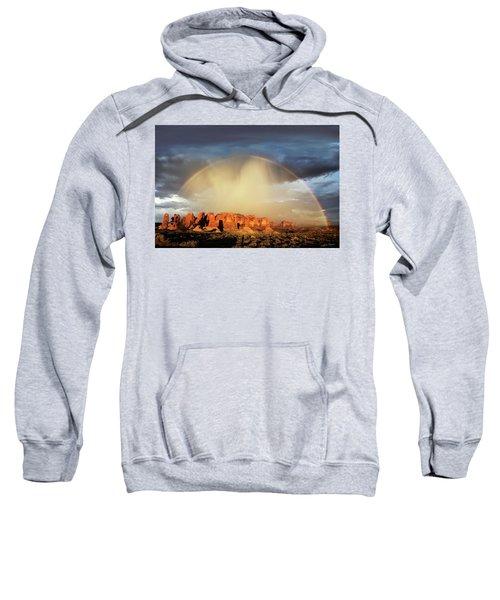 Rainbow Over Garden Of Eden Sweatshirt