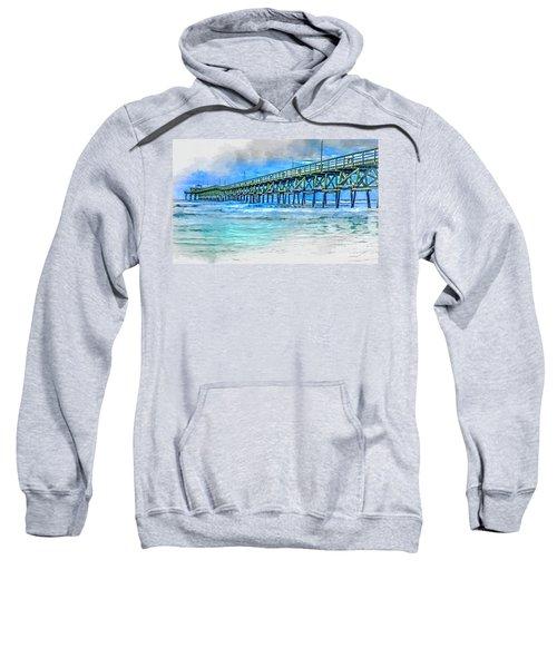 Sea Blue - Cherry Grove Pier Sweatshirt