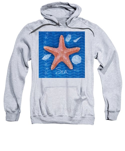 Seashells On Blue-sea Sweatshirt