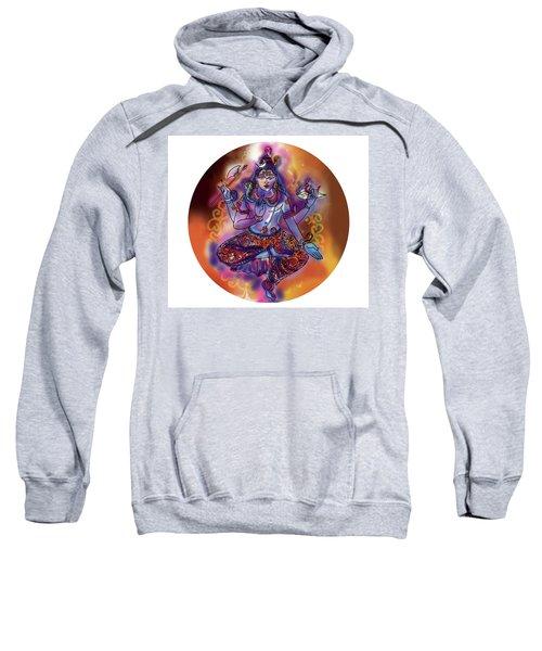Sweatshirt featuring the painting Shiva Dhyan by Guruji Aruneshvar Paris Art Curator Katrin Suter