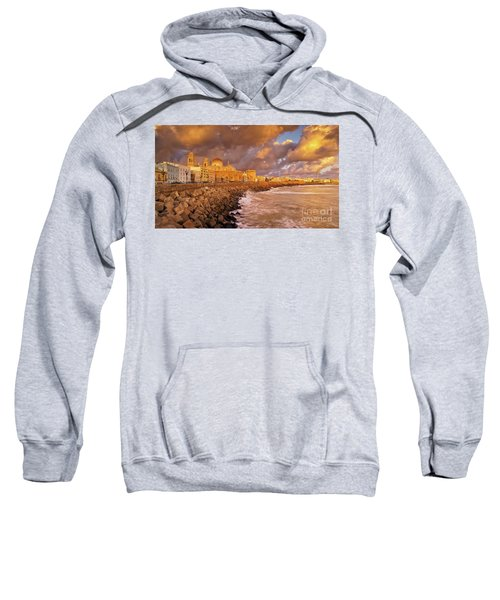 Skyline From Campo Del Sur Cadiz Spain Sweatshirt