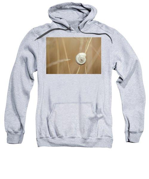 Snail On Autum Grass Blade Sweatshirt