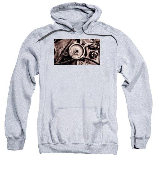Soviet Ussr Combine Harvester Abstract Cogs In Monochrome Sweatshirt