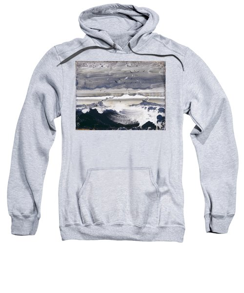 Sweatshirt featuring the painting Stormy Sea by Peder Balke