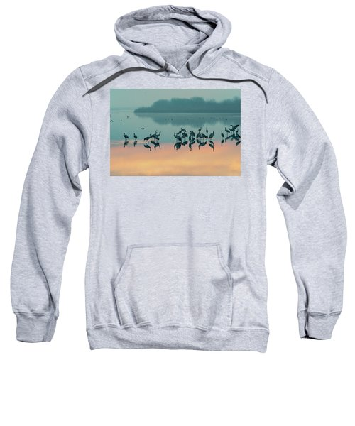 Sunrise Over The Hula Valley Sweatshirt by Dubi Roman