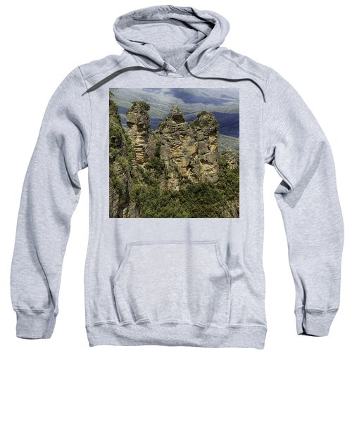 Sweatshirt featuring the photograph The Three Sisters by Chris Cousins