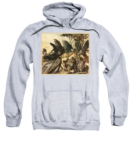 Sweatshirt featuring the painting The Valkyrie by Celestial Images