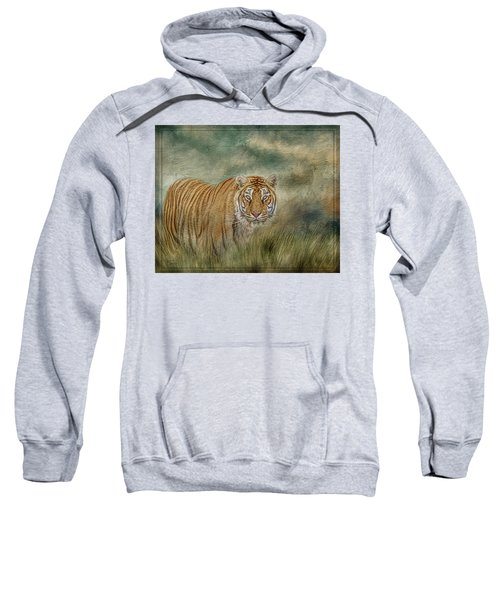 Tiger In The Grass Sweatshirt