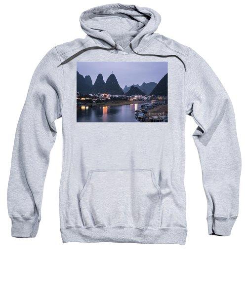 Twilight Over The Lijang River In Yangshuo Sweatshirt