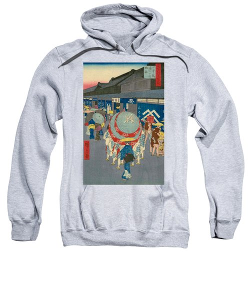 View Of Nihonbashi Tori 1-chome Sweatshirt