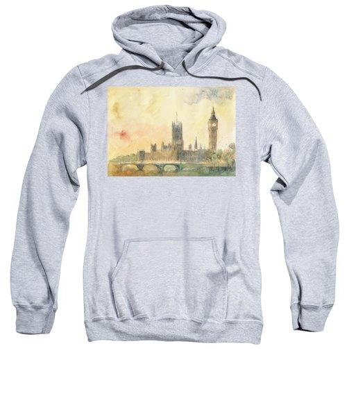 Westminster Palace And Big Ben London Sweatshirt