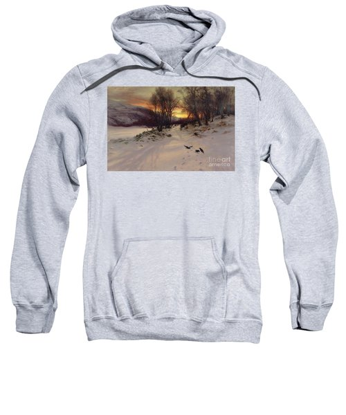 When The West With Evening Glows Sweatshirt by Joseph Farquharson