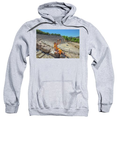 Woman Photographer Selfie Sweatshirt