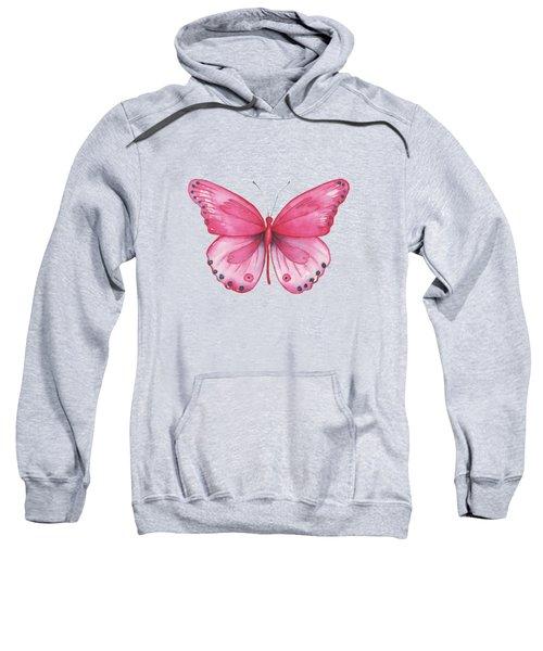 107 Pink Genus Butterfly Sweatshirt