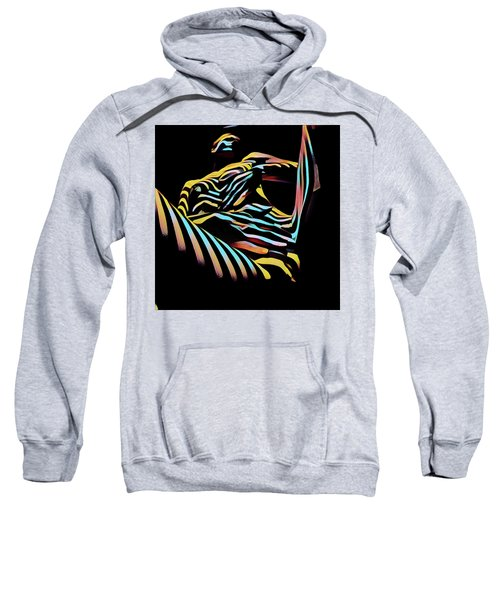 Sweatshirt featuring the digital art 1177s-ak Abstract Nude Her Fingers On Pubis Erotica Composition Style  by Chris Maher