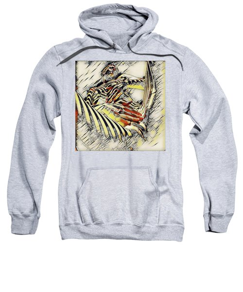 1177s-ak Abstract Nude Her Fingers On Pubis Erotica In The Style Of Kandinsky Sweatshirt