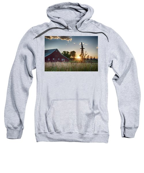Sweatshirt featuring the photograph 17 Mile House Farm - Sunset by Stephen Holst