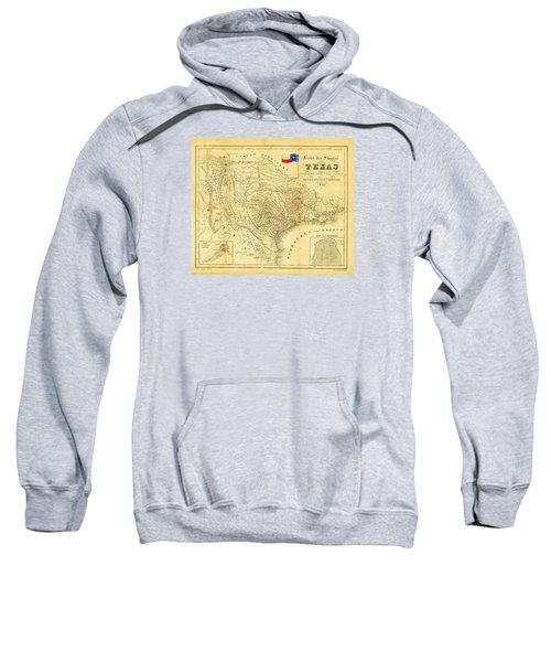 1849 Texas Map Sweatshirt