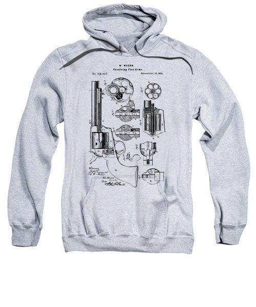1875 Colt Peacemaker Revolver Patent Vintage Sweatshirt
