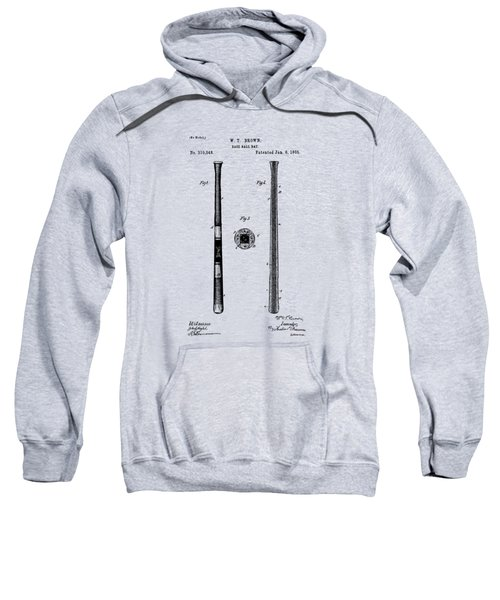 1885 Baseball Bat Patent Artwork - Vintage Sweatshirt